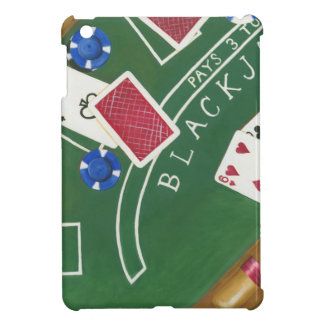 Game of Blackjack with Chips by Chariklia Zarris iPad Mini Cases