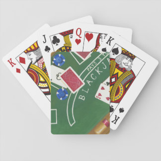 Game of Blackjack with Chips by Chariklia Zarris Playing Cards