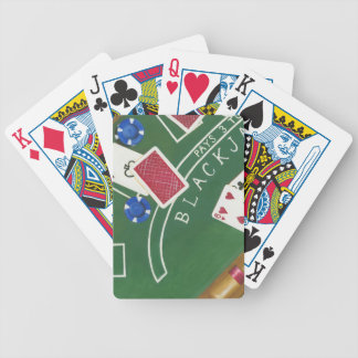 Game of Blackjack with Chips by Chariklia Zarris Bicycle Playing Cards