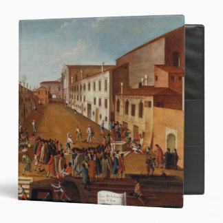 Game of Bowls in the Campo dei Gesuiti, Venice 3 Ring Binder