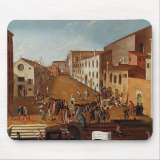 Game of Bowls in the Campo dei Gesuiti, Venice Mouse Pad