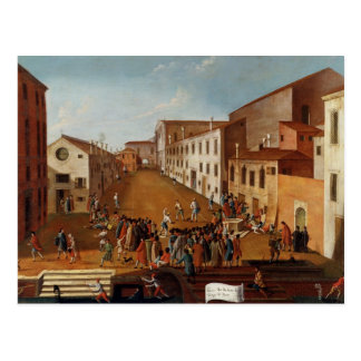 Game of Bowls in the Campo dei Gesuiti, Venice Postcard