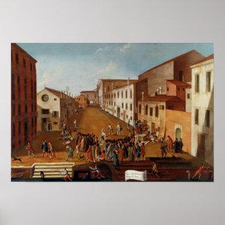 Game of Bowls in the Campo dei Gesuiti, Venice Poster