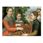 Game of Chess, 1555 Postcard