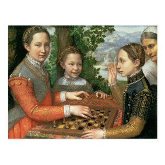 Game of Chess, 1555 Postcard