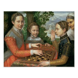 Game of Chess, 1555 Poster