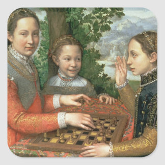 Game of Chess, 1555 Square Sticker