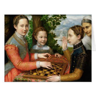 Game of Chess by Sofonisba Anguissola - Circa 1555 Card