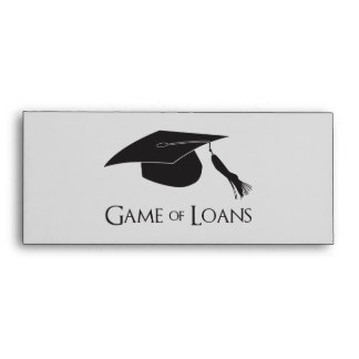 Game of College Graduation Loans Envelope