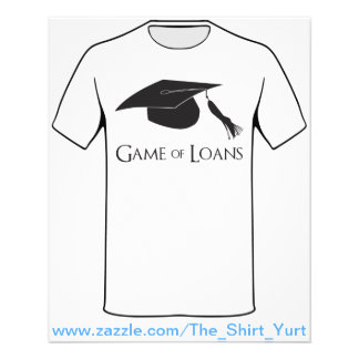 Game of College Graduation Loans Flyer