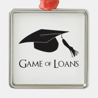 Game of College Graduation Loans Metal Ornament