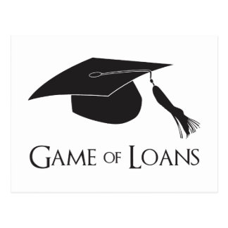 Game of College Graduation Loans Postcard