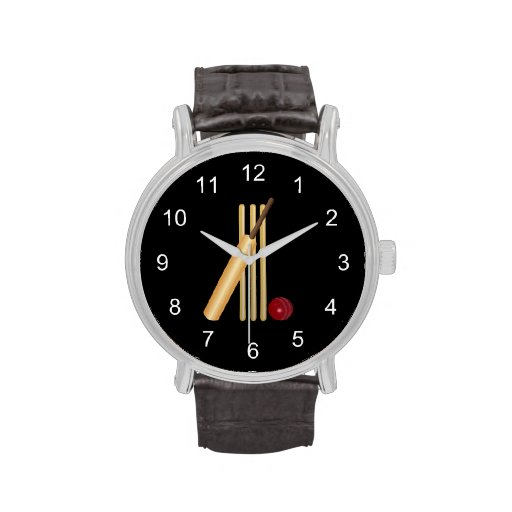 Game of Cricket, Bat and Ball Wristwatch