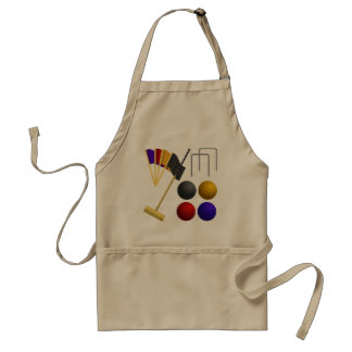 Game Of Croquet Apron