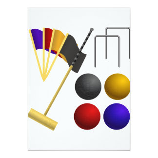 Game Of Croquet Invitations