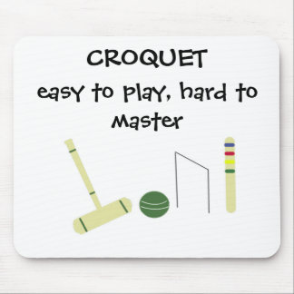 Game of Croquet Mouse Pad