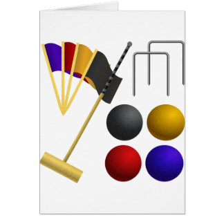 Game Of Croquet Note Cards