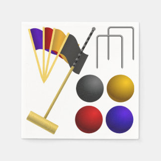 Game Of Croquet Paper Napkins