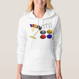 Game Of Croquet Womens Hoodie