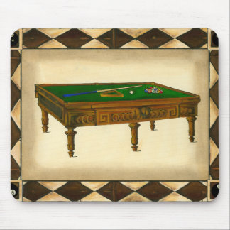 Game of Eight Ball on Billiards Table Mouse Pad