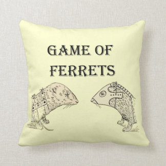 Game of Ferrets War Funny Internet Meme Throw Pillows
