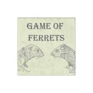 Game of Ferrets War Funny Internet Meme Stone Magnet