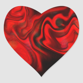 Game of Flames Heart Sticker