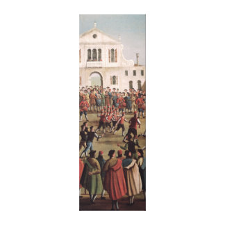 Game of Football at Sant'Alvise, Venice Canvas Print