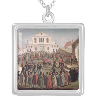 Game of Football at Sant'Alvise, Venice Custom Necklace