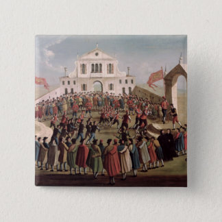 Game of Football at Sant'Alvise, Venice Pinback Button
