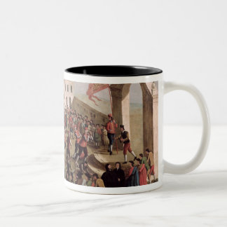 Game of Football at Sant'Alvise, Venice Two-Tone Coffee Mug