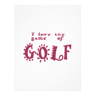 Game of Golf Letterhead