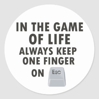 Game of Life Classic Round Sticker
