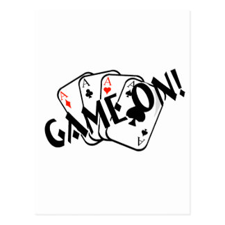 Game On (Aces) Postcard