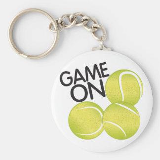 Game On Basic Round Button Keychain