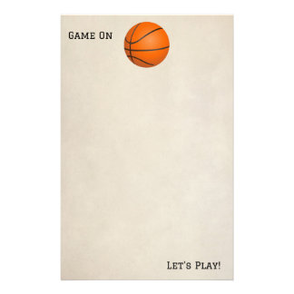 Game On Basketball Stationery