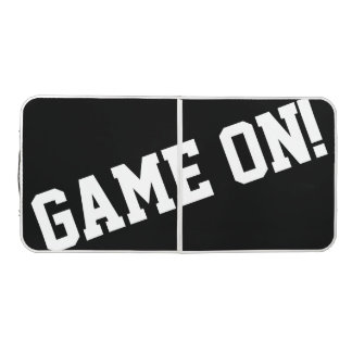 Game On! Black & White Tailgate Pong Table