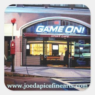 GAME ON Boston Square Sticker