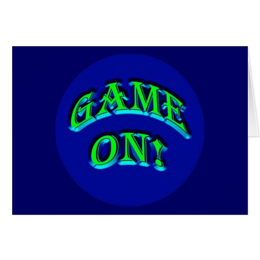 GAME ON! GREETING CARDS