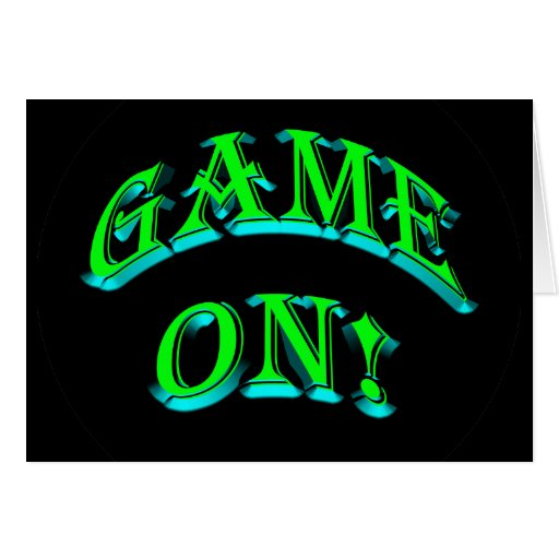 GAME ON! GREETING CARD