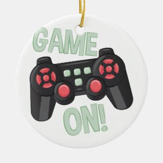 Game On Ceramic Ornament