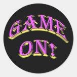 GAME ON! CLASSIC ROUND STICKER