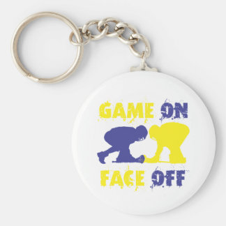 Game On Face Off Keychain