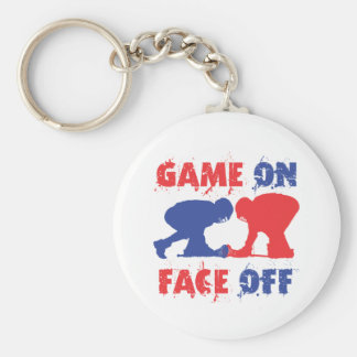 Game On Face Off Keychains