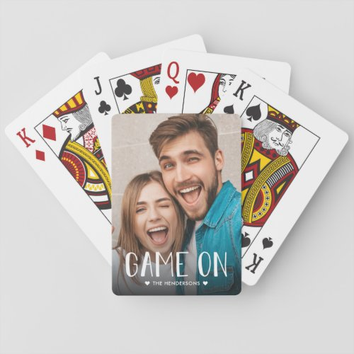 Game On Family Photo Playing Cards