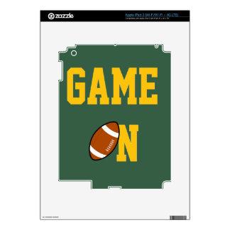 GAME ON - FOOTBALL GREEN & GOLD iPad 3 DECAL