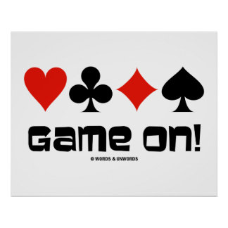 Game On! (Four Card Suits) Poster