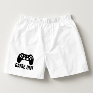 GAME ON funny boxer shorts underwear for men