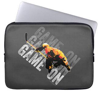 Game On (Hockey) Laptop Sleeves