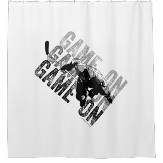 Game On (Hockey) Shower Curtain